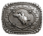 Wrangler Oblong Bull Rider Belt Buckle with display stand. Officially licensed. Product code WE3